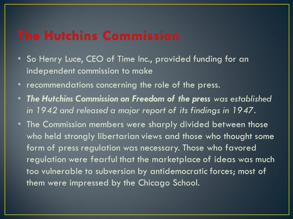The Hutchins Commission