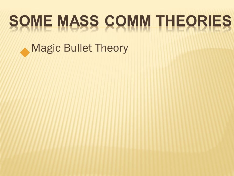 magic bullet theory analysis The magic bullet in the jfk assassination  neutron activation analysis  if dna from both of these individuals is not on the magic bullet, then that theory is.