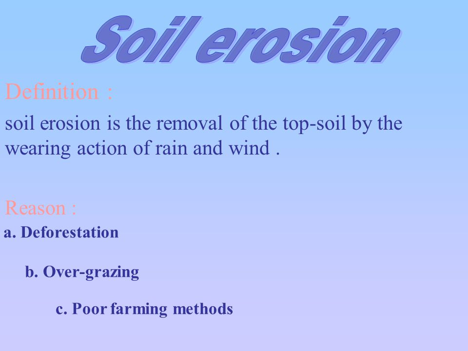 Intensive agriculture ppt video online download for Soil erosion definition