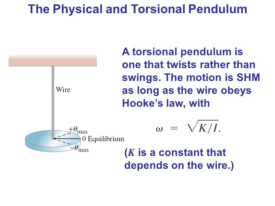 oscillation of torsional pendulum essay Torsion pendulum life swings like a pendulum backward and forward between pain and boredom arthur schopenhauer 1 introduction oscillations show up throughout physics.