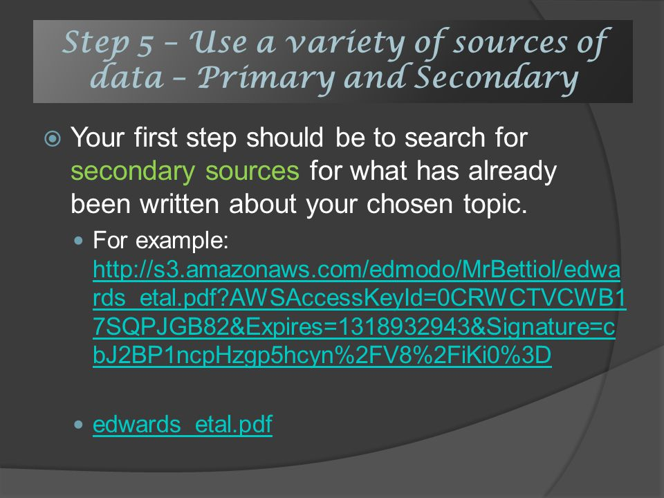 sources of secondary data collection pdf