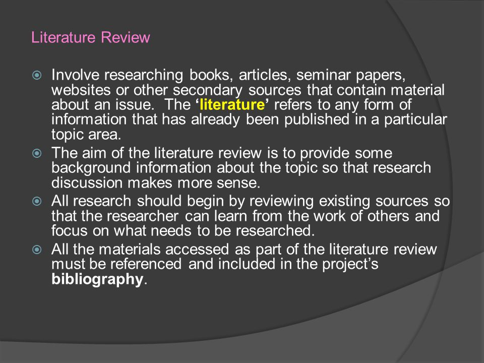 Can a literature review include websites
