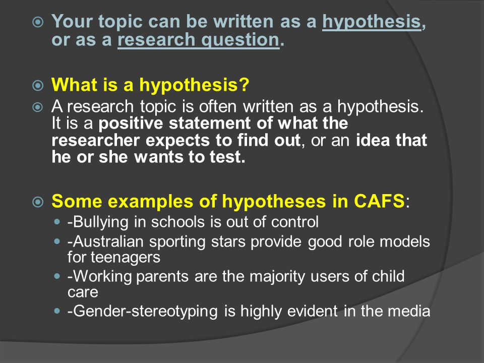 the role of research hypothesis in a research project To understand the null hypothesis role,  the null hypothesis is used within research as   .