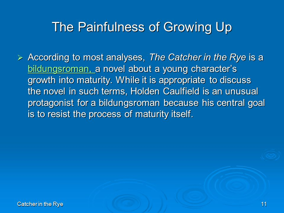 resisting change in the catcher in the rye a novel by j d salinger Jd salinger's novel tells the story of holden caulfield the protagonist of jd salinger's the catcher in the rye matter and change chapter 8.