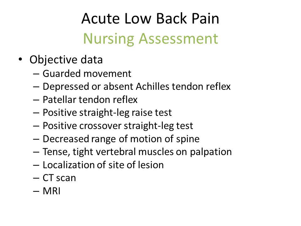 low back pain assessment pdf
