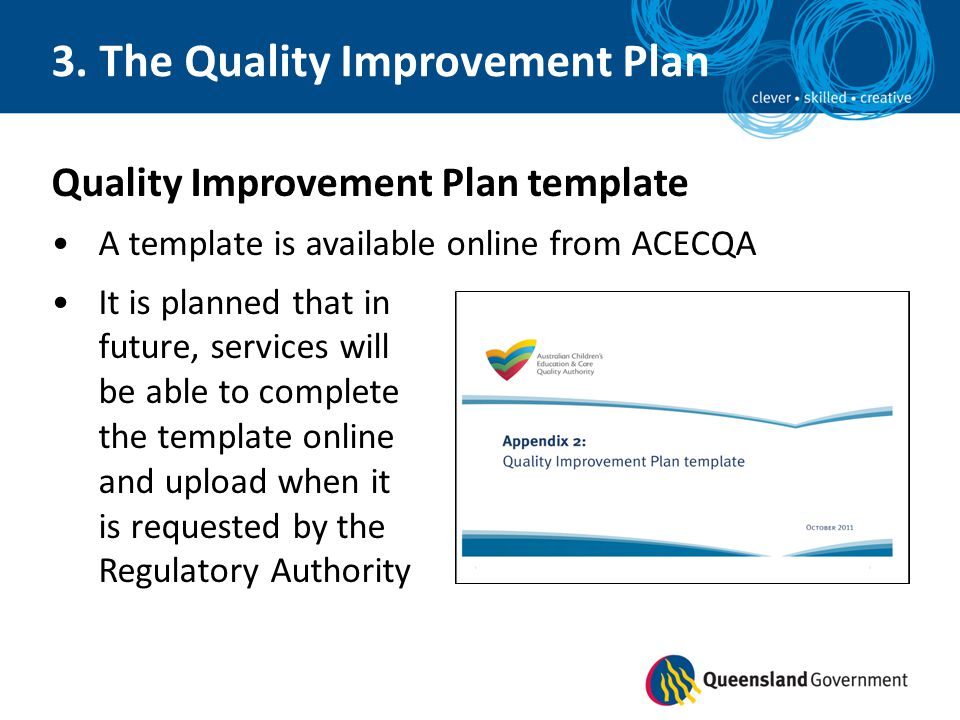 National quality framework self assessment and quality for Regulatory plan template