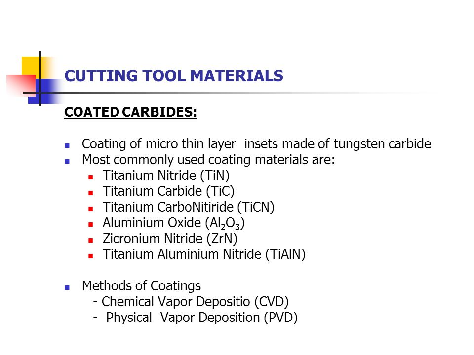 tin cutting tools