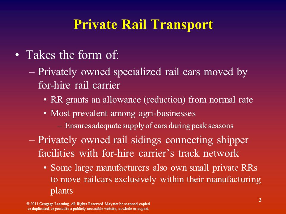 private transportation rail