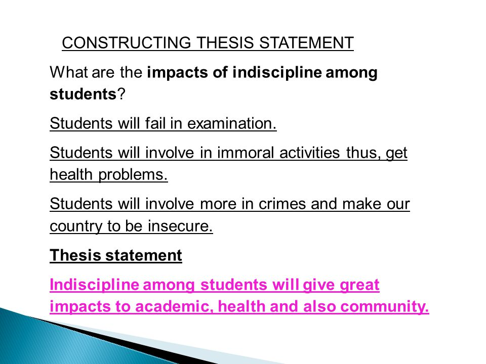 constructing thesis statement speech Thesis statement - part 2 re-reading the question prompt after constructing a working thesis can help you fix an argument that misses the focus of the question.