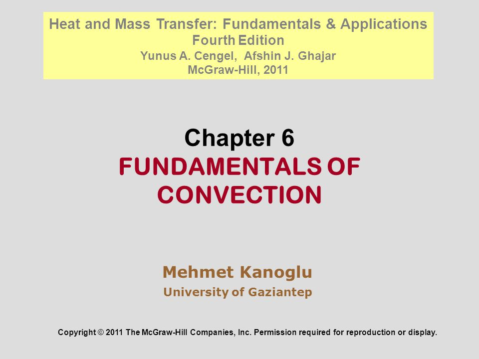 Chapter 6 Fundamentals Of Convection Ppt Video Online Download