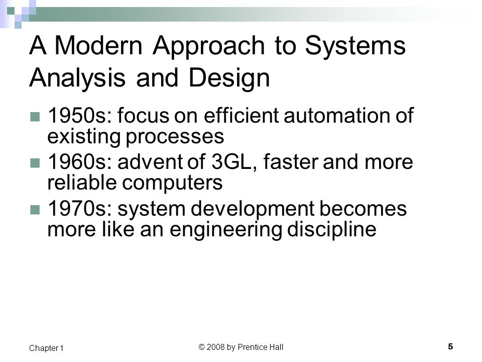 modern system analyst chapter 1 Use cases are used in almost all modern system analysis approaches a use case is an activity the system performs, usually in response to a request by a user  structured system analysis & design unisa studies – chap 5 # re:  yes i have done chapter 1-6 so far, if you look on the left hand side of the screen for a section called post.