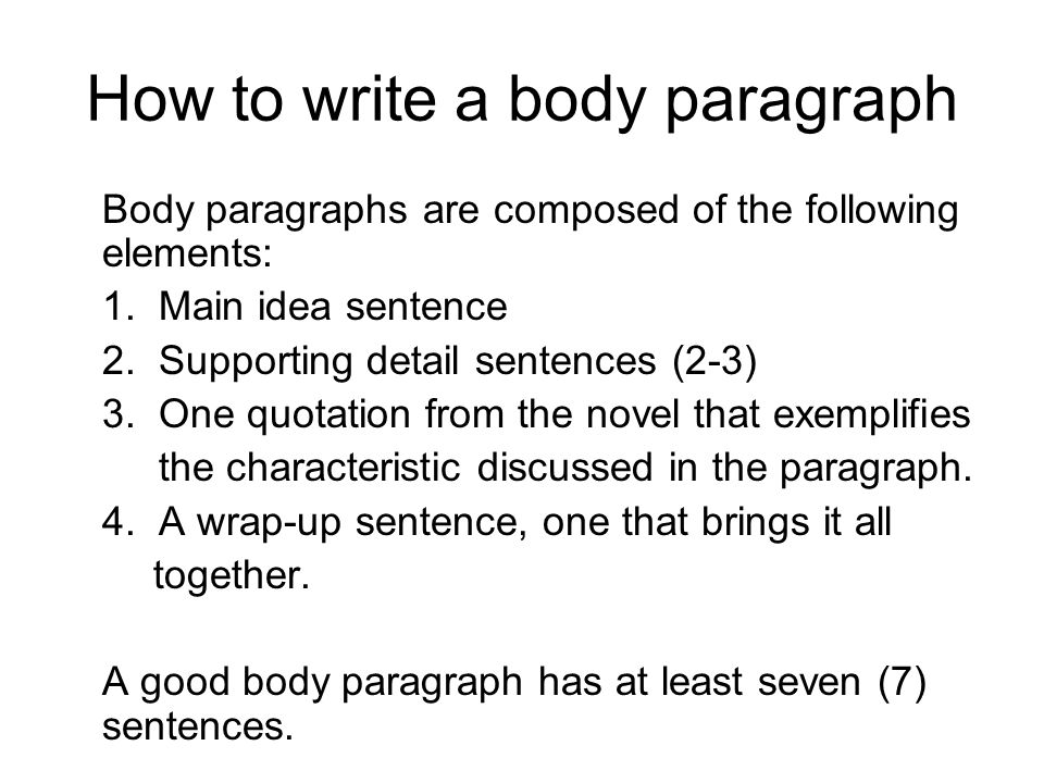 How to Write a Paragraph in an Eight Sentence Burst