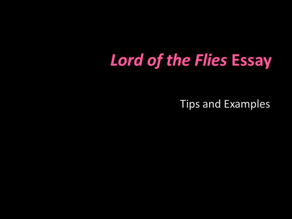 """Lord of the Flies"" by William Golding Commentary Essay Sample"