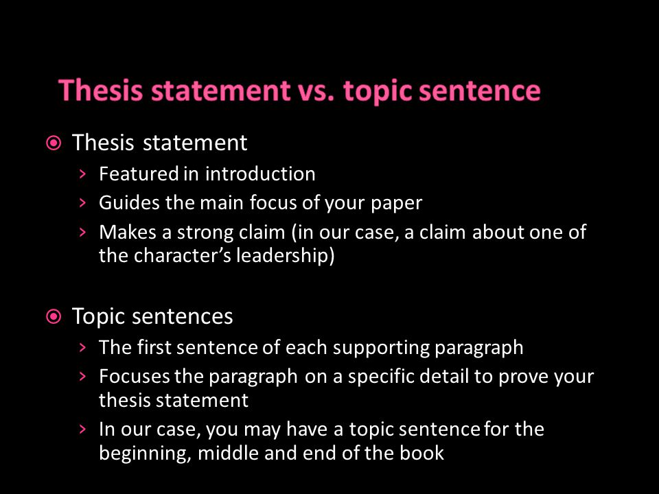 thesis statement vs thesis sentence I the perfect thesis statement what is a thesis statement it is one sentence that most commonly sits at the end of your introduction, expressing your stand on a.