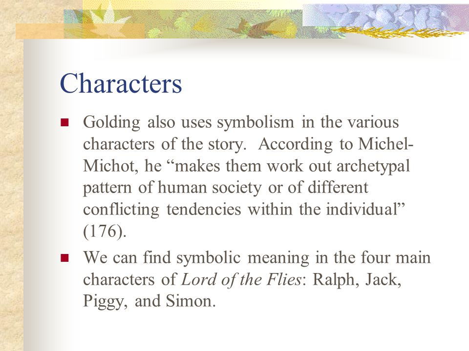 symbolism in lord of the flies ppt video online  10 characters