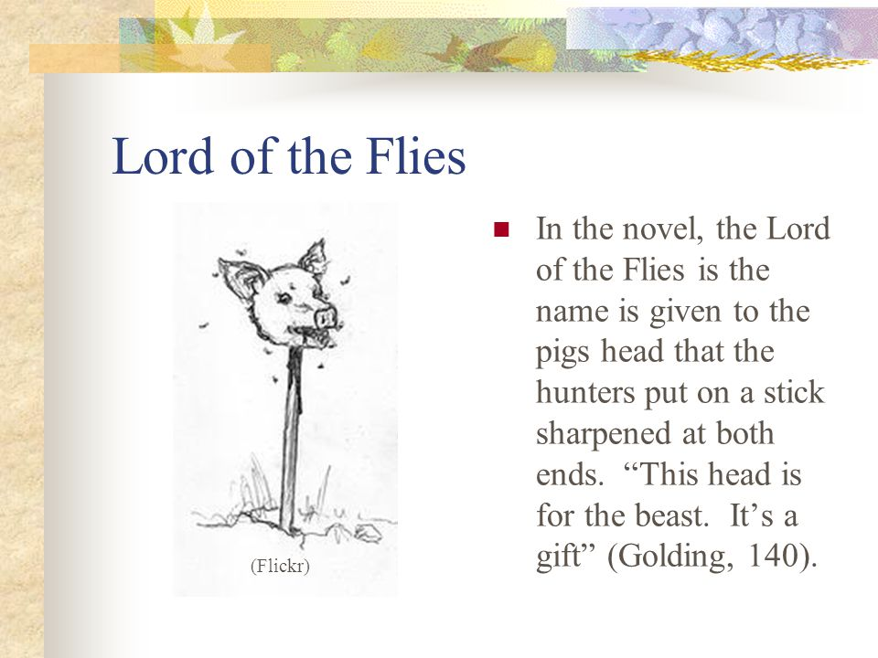 the symbolism used in the novel lord of the flies Lord of the flies - symbolism symbolism is an important technique to position readers to address key important ideas in a novel william golding highlights such main ideas as, civilization verses savagery and the loss of innocence, in the novel lord of the flies.
