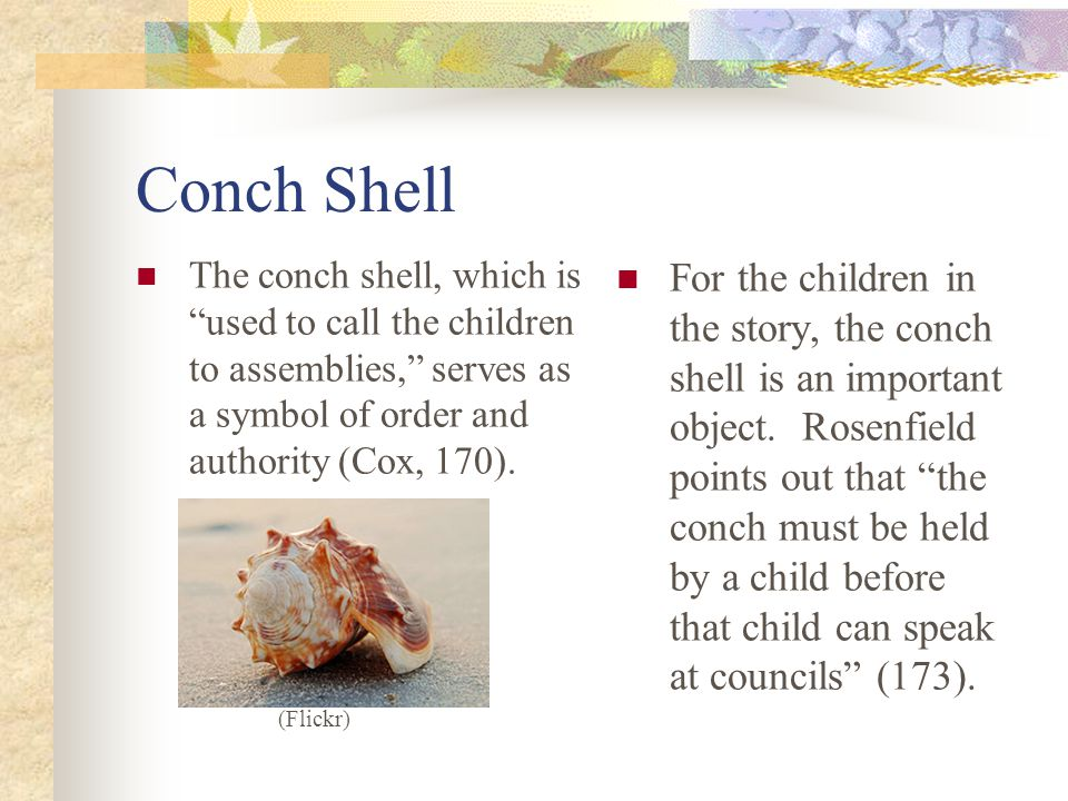 Lord of the flies essays on the conch