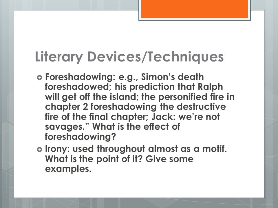 lord of the flies literary analysis ppt  10 literary devices techniques