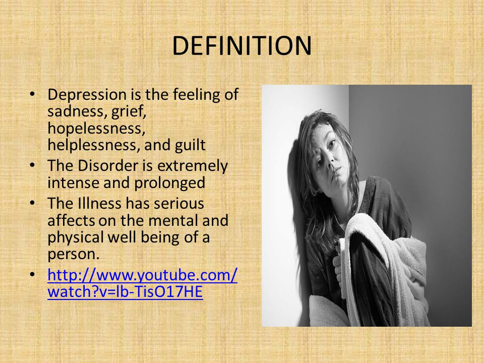 Awesome 5 DEFINITION Depression ...