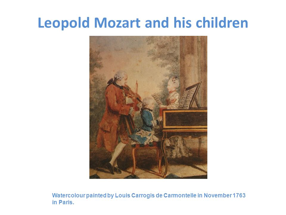 Leopold Mozart and his children