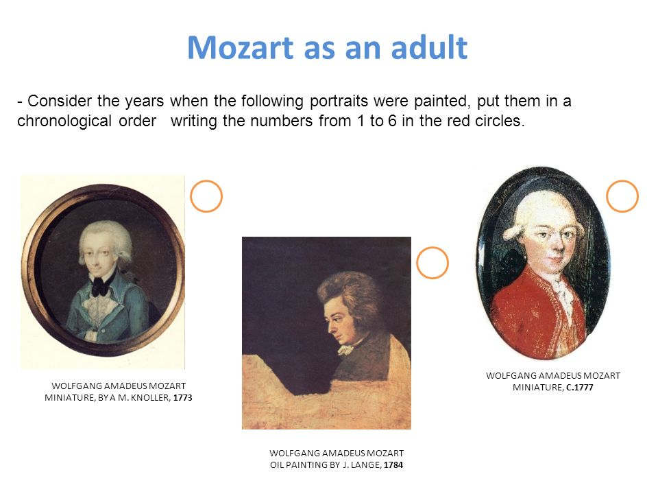 Mozart as an adult