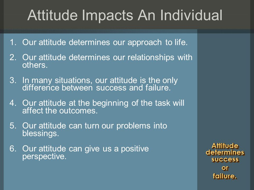 how to show attitude to others