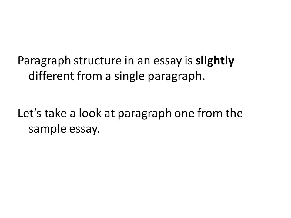 single paragraph essay format