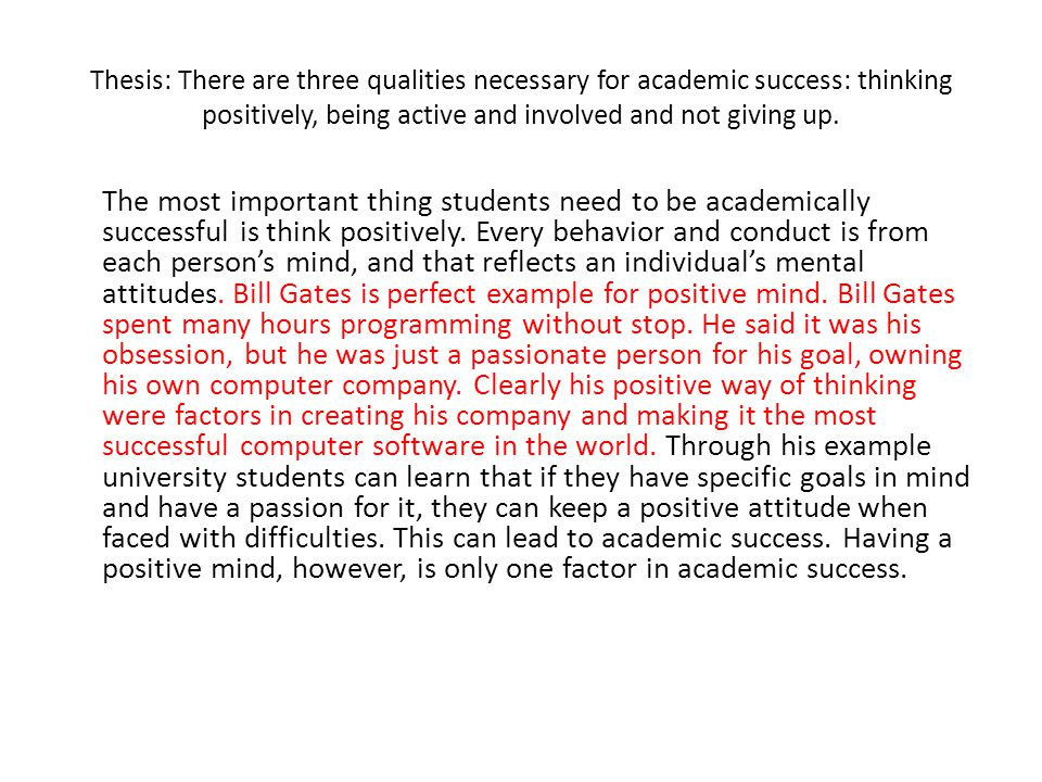 thesis academic This handout describes what a thesis statement is, how thesis statements work in your writing, and how you can discover or refine one for your draft.