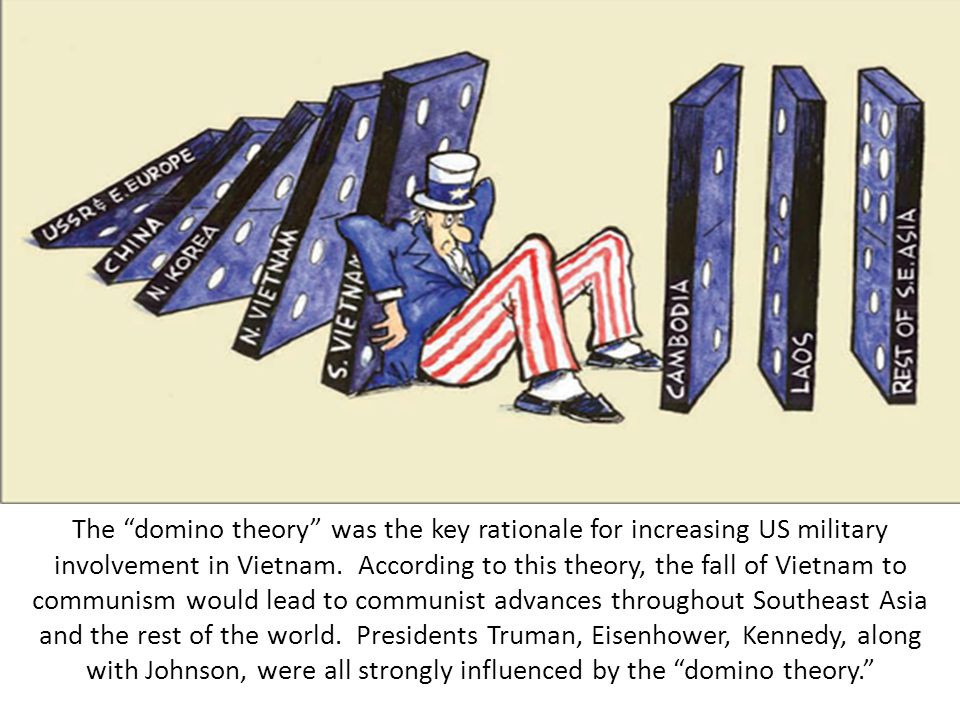 "the domino theory and world war March 19, 1975, page 47 the new york times archives washington, march 18—in trying to drum, up support for giving more military aid to cambodia, president ford revived at notre dame university the other day the old ""domino theory"": if cambodia falls to the communists, it may knock over thailand."