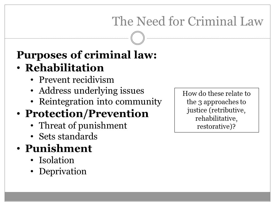 sources and purposes of criminal law The law student's quick guide to legal citation  sources and some secondary sources, the  academic, non‐law review related purposes.
