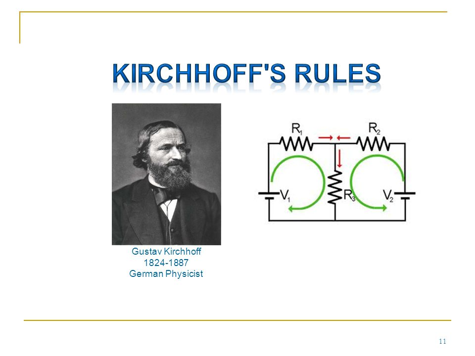 Kirchhoff s Rules Gustav Kirchhoff German Physicist