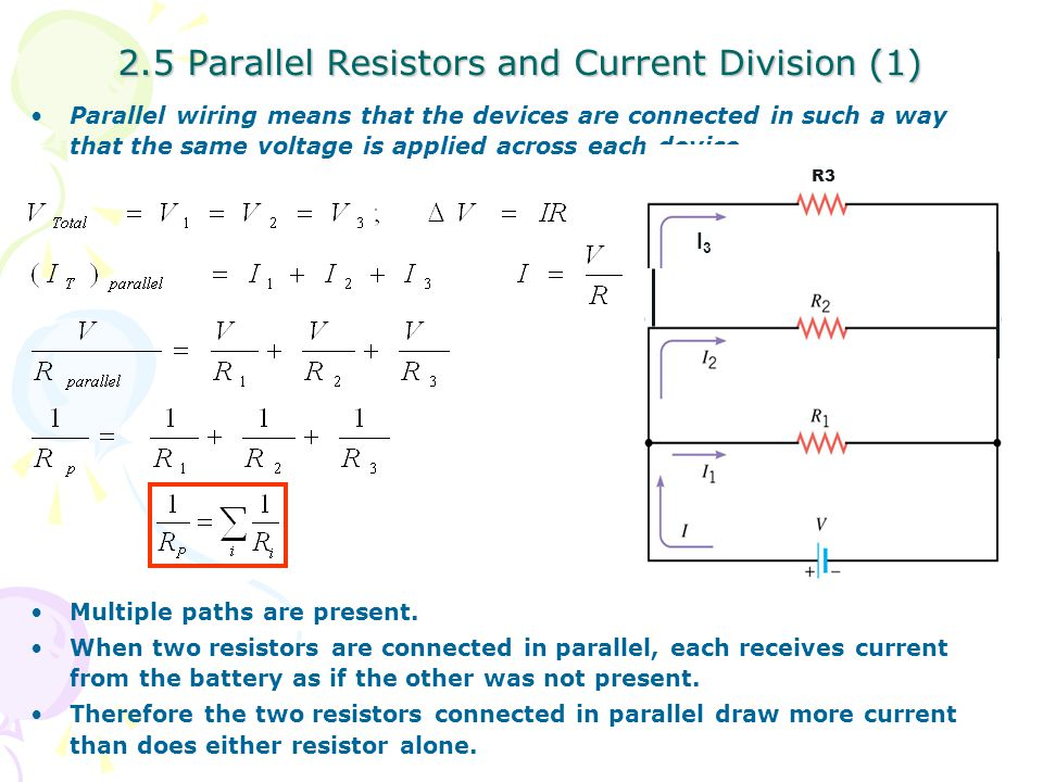 2.5 Parallel Resistors and Current Division (1)