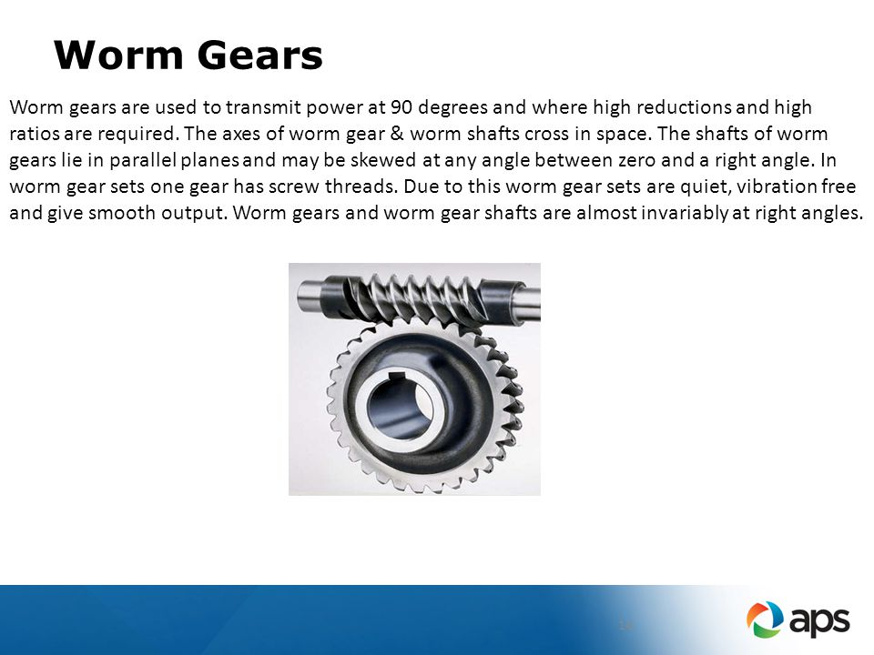 SYSTEM/PROCESS APS ME-01 GEAR TRAINING. - ppt download