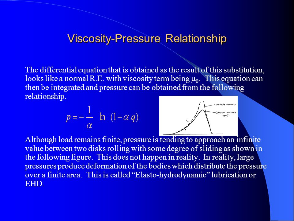 viscosity and vapor pressure relationship