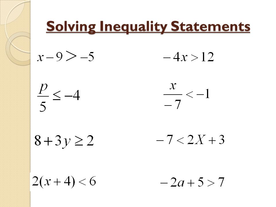 how can you solve a linear inequality ppt video online
