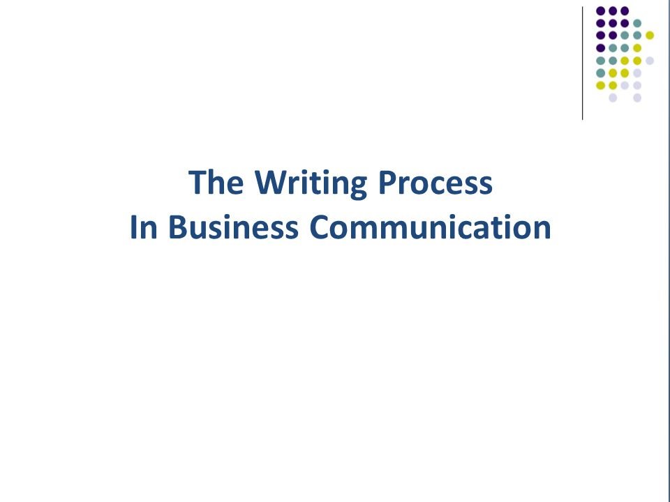 powerpoint on the writing process