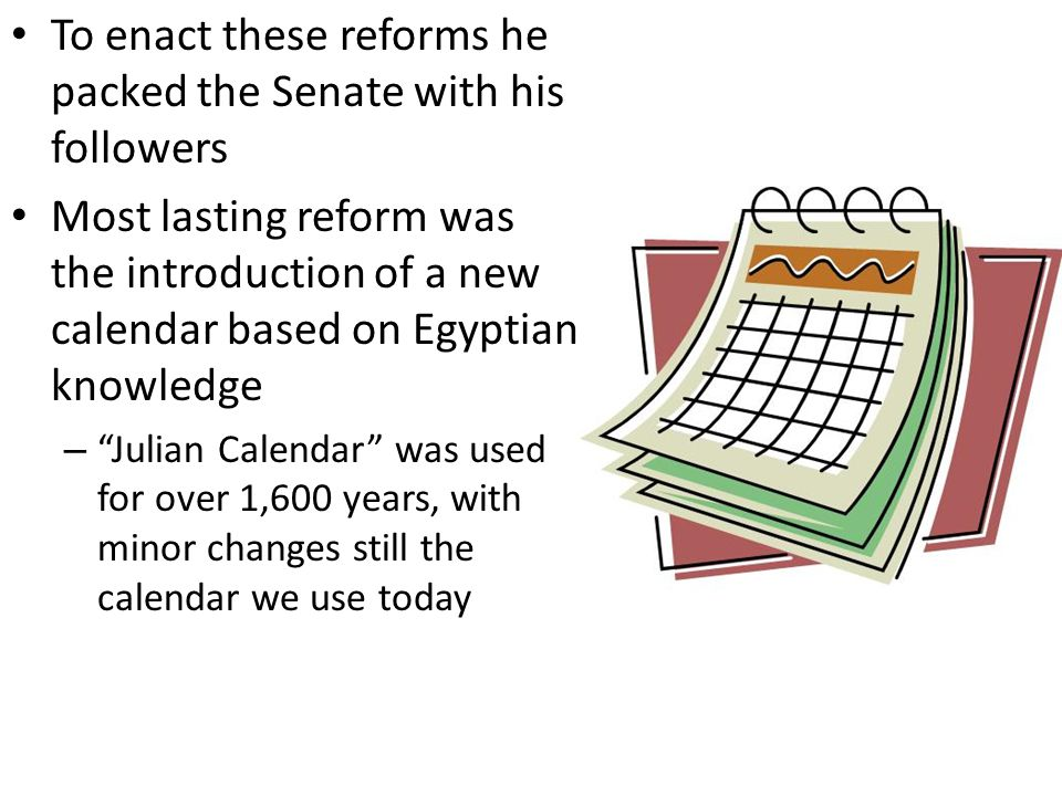 Calendar Reform Ideas : Ancient rome ppt download