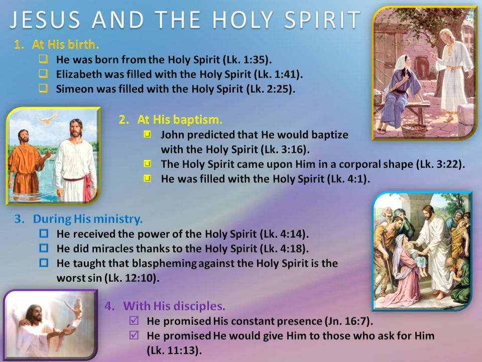 jesus the holy spirit and prayer ppt download