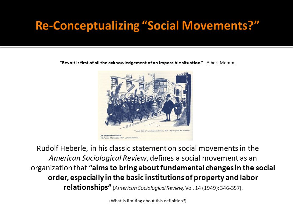 sociology and social movements How can the answer be improved.