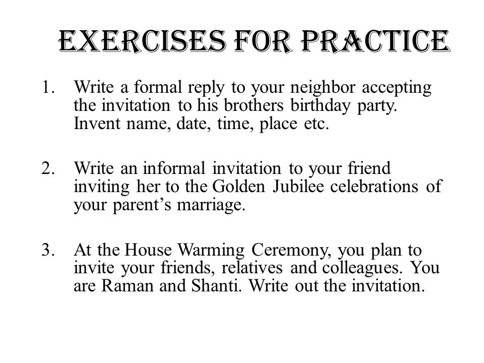 how to write a invitation letter for a party 19+ hr invitation letter templates templates for invitational letters are of many kinds and all of them can be customized by the department whether it is a formal.