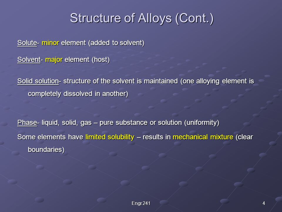 1. Substitutional Solid Solutions