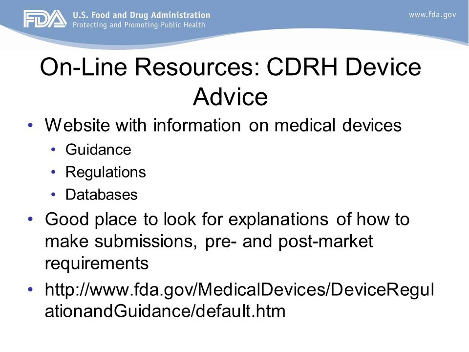 CDRH Learn - Food and Drug Administration