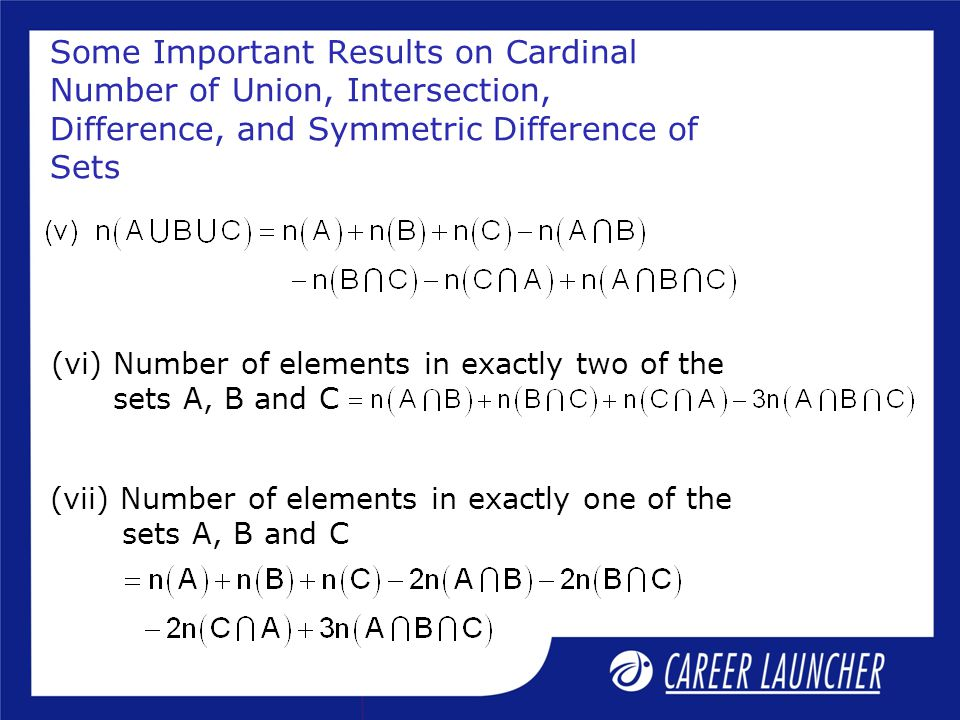 Some Important Results on Cardinal Number of Union, Intersection, Difference, and Symmetric Difference of Sets