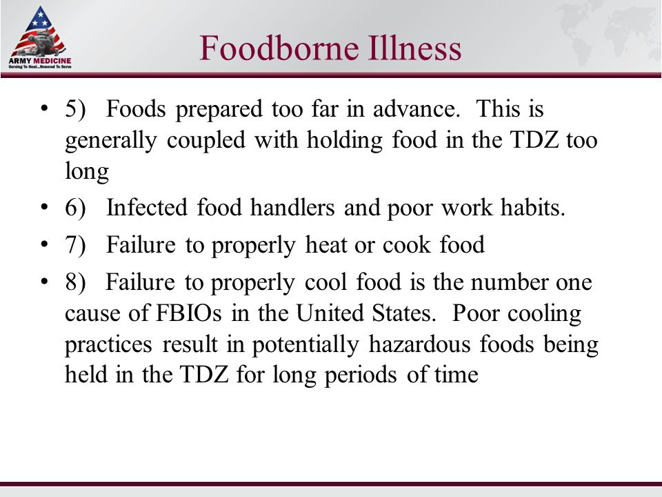 Cooling Food Properly : United states army basic food handler s course ppt download