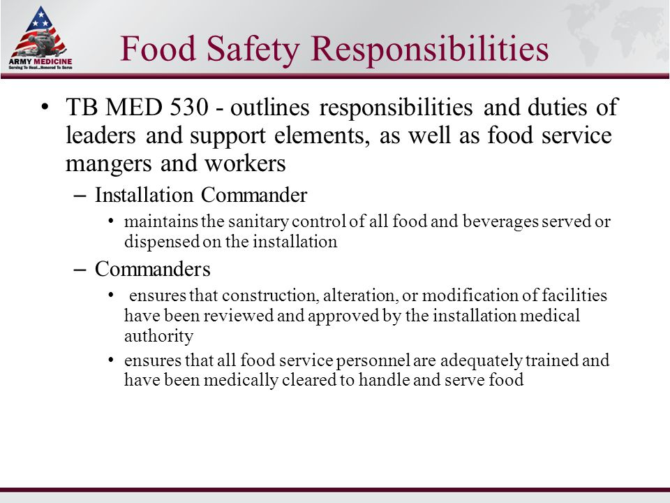 Duties And Responsibilities Of Food Service Personnel