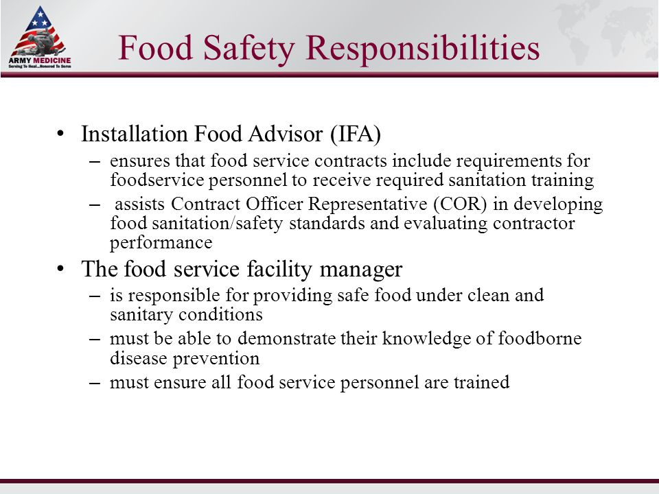 United States Army Basic Food HandlerS Course  Ppt Download