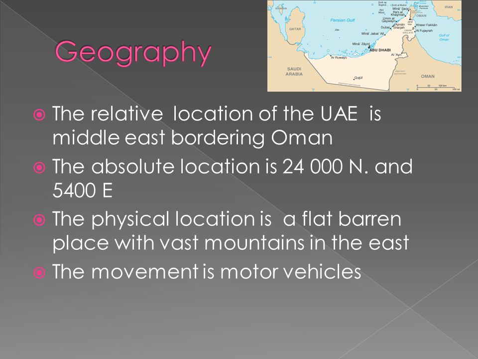 UAE United Arab Emirates Ppt Video Online Download - Jerusalem absolute location