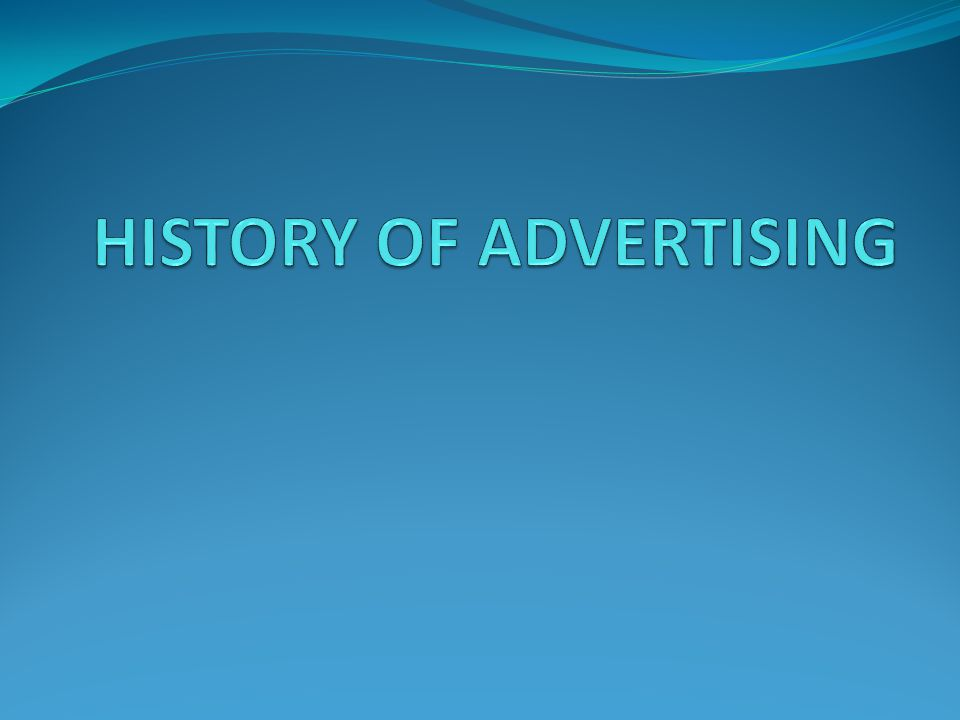 The History of Advertising: A Timeline