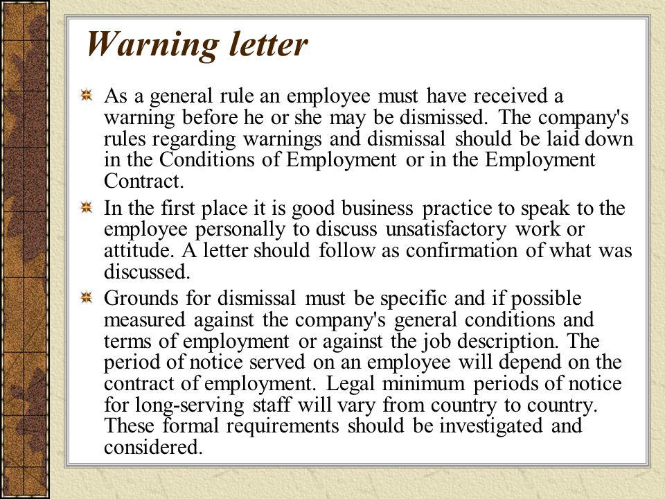 employee bad attitude warning letter Parlobuenacocinaco