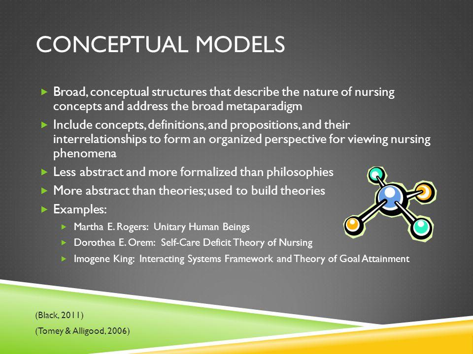 nursing conceptual model